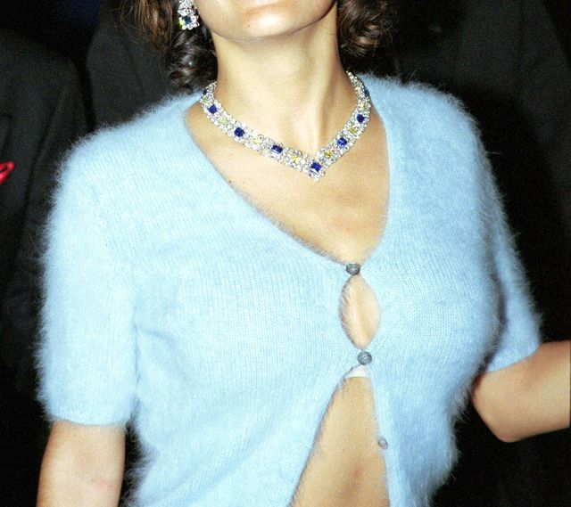 salma hayek at the amfar party during cannes 1999 at la croisette in cannes, france photo by toni anne barsonwireimage