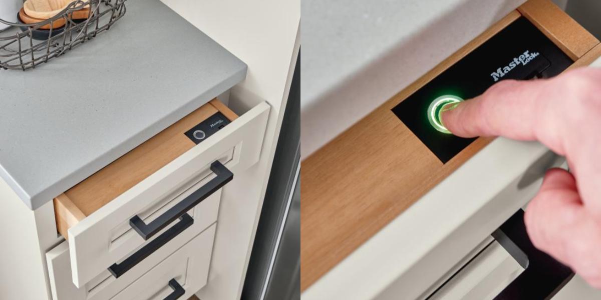 Diamond Cabinets Releases Fingerprint Lock Biometric Secured Drawers