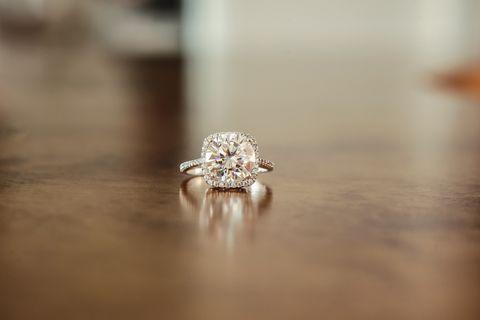 Diamond halo engagement wedding ring