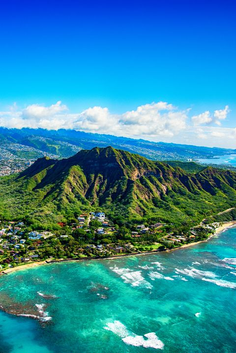 best spring break trips for families - Diamond Head State Park Aerial