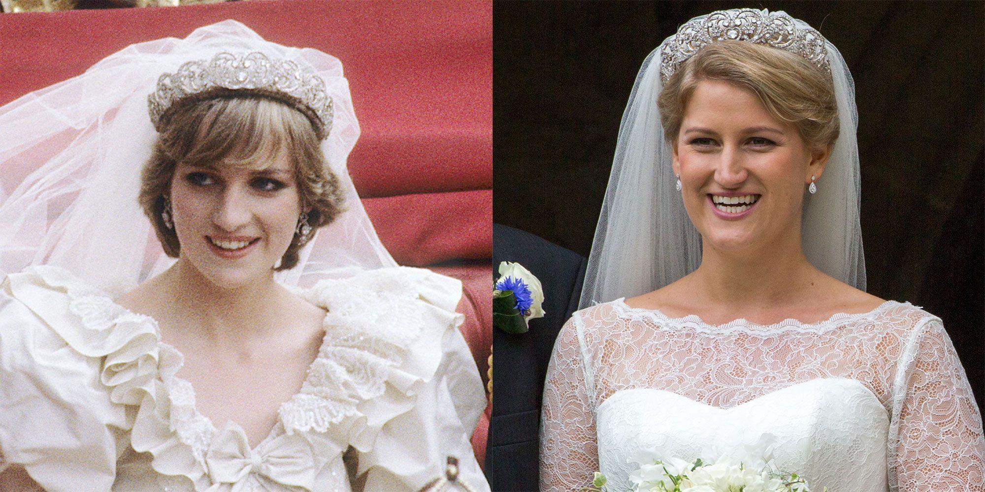 princess diana wedding dress veil