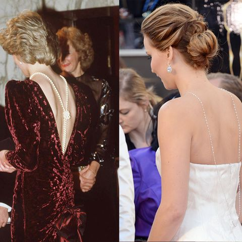 celebrities who dressed exactly like royals   princess diana and jennifer lawrence