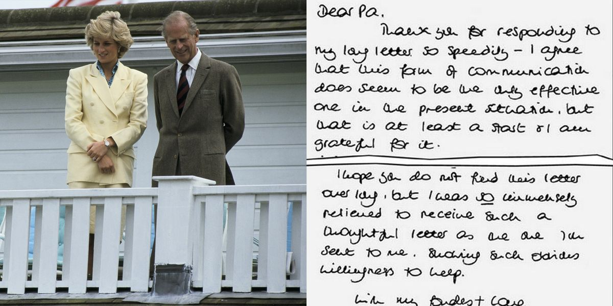 Prince Philip Letters To Princess Diana - Prince Philip Took Dianas Side In Her -9324