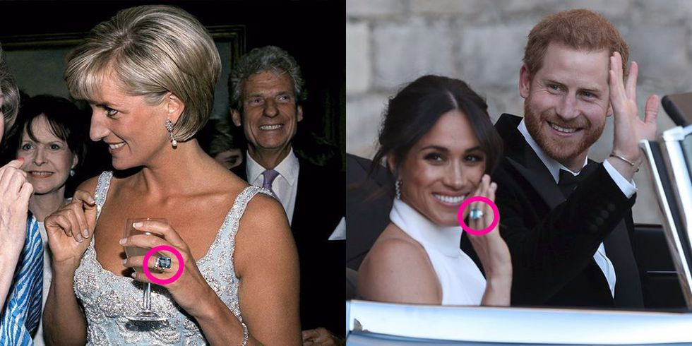 prince harry gave meghan markle princess diana s aquamarine ring as a wedding gift prince harry gave meghan markle