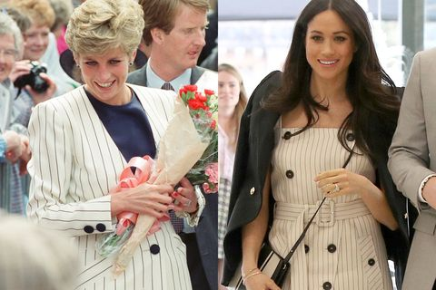Diana and Meghan in similar looks