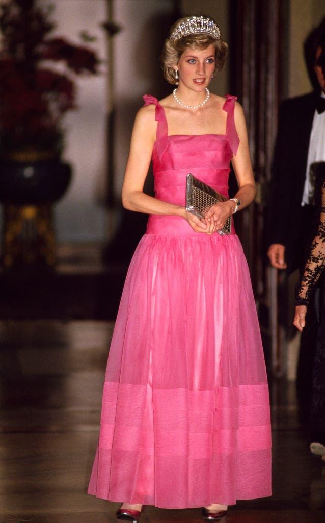 diana de gales vestido rosa