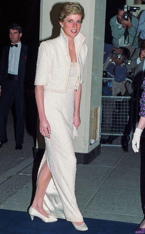 Diana, Princess of Wales attends a British Fashion Awards
