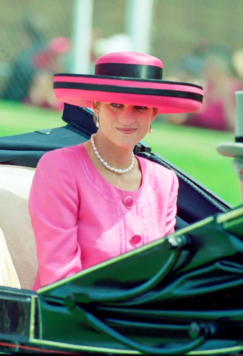 diana princess of wales in the carriage procession at the royal ascot race meeting