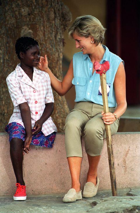 Princess Diana Angola Landmine Victim