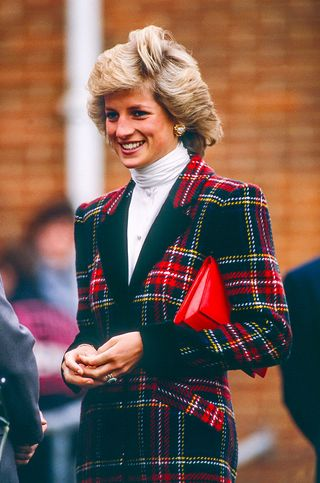 diana, princess of wales on a visit to portsmouth