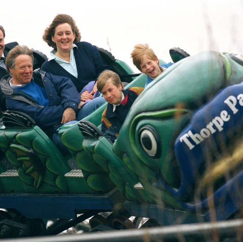 prince william and harry at an amusement park