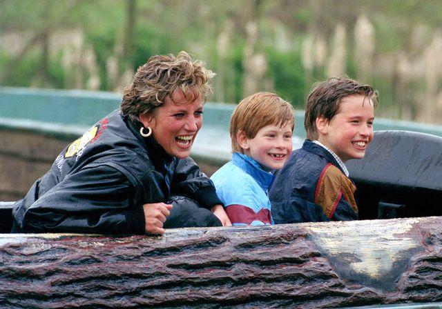 diana, william, harry at thorpe park