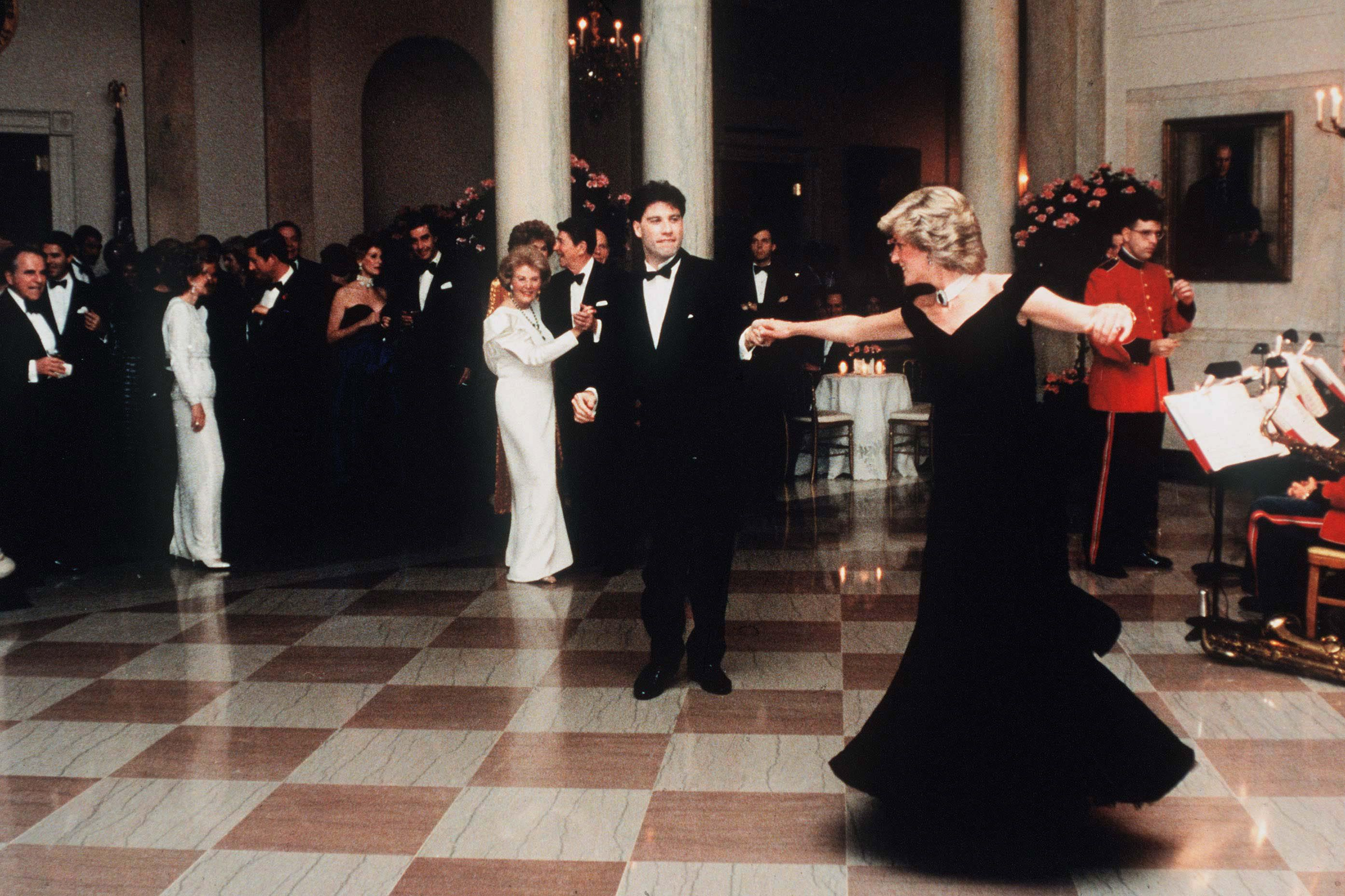Diana, princesse de galles et john travolta