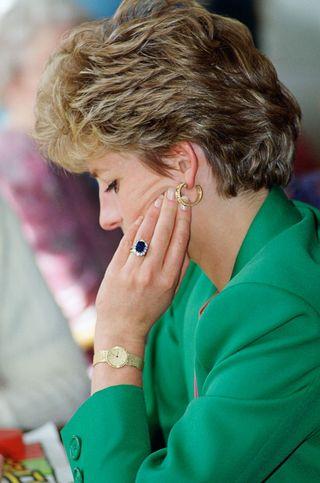 diana rings watch earring