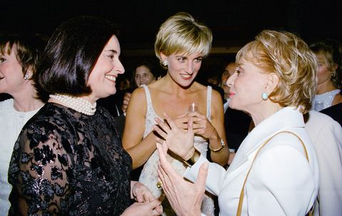 diana, princess of wales, with her friend lucia flecha de li