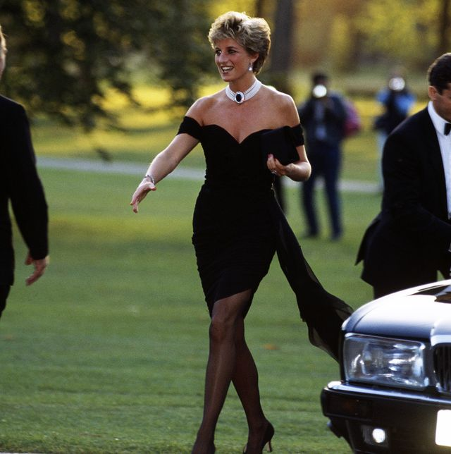 british royal diana, princess of wales 1961 1997 wearing a black christina stambolian dress, attends a vanity fair party at the serpentine gallery in london, england, 20th november 1994 photo by princess diana archivegetty images