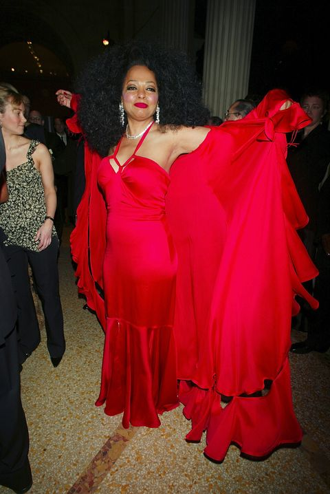 Clothing, Red, Dress, Fashion, Gown, Haute couture, Shoulder, Fashion design, Event, Formal wear,