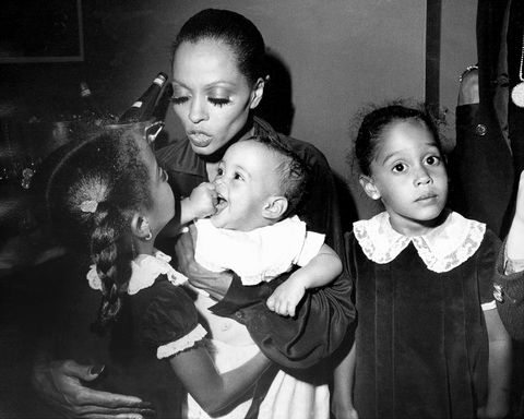 diana ross and her children backstage at palace theatre whil