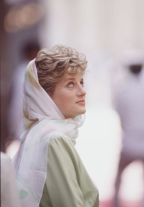 egypt   may 13  diana, princess of wales, in egypt wearing a headscarf  photo by tim graham photo library via getty images
