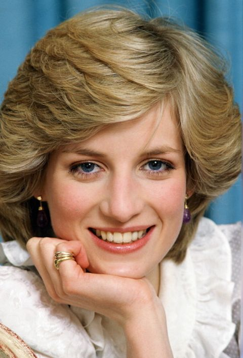 february 01, diana, princess of wales at her home in kensington palace,1983 in london