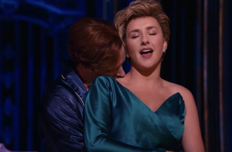Jeanne de Waal and Gareth Keegan in the musical Diana