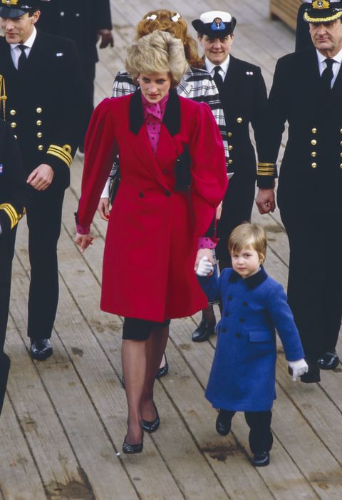 prince william visits hms brazen, with diana princess of wales, and sarah ferguson