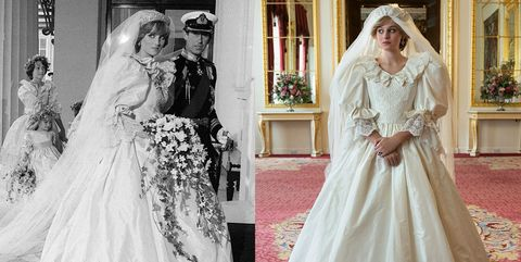 in hitserie the crown maakte ze de trouwjurk van prinses diana na lees hier hoelang dat duurde en wat het kostte