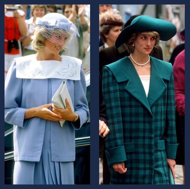 princess diana wore stylish wide collars