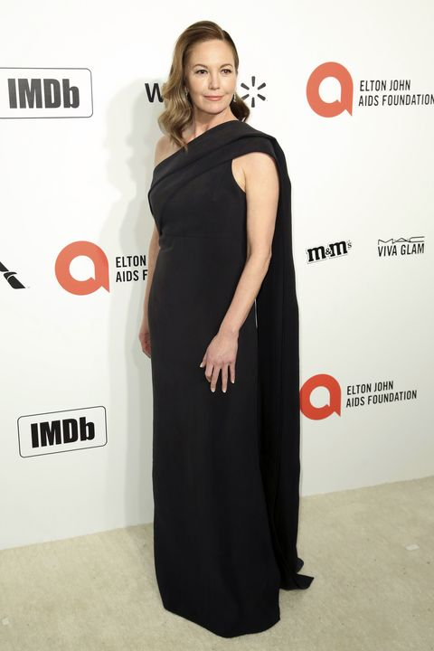 Diane Lane en la fiesta de Elton John tras los Oscar 2020