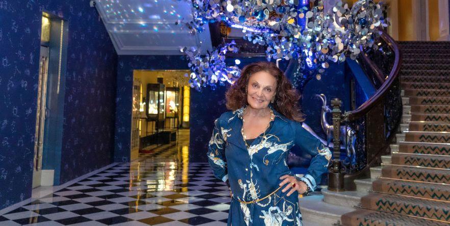 Diane von Furstenberg's Claridge's Christmas Tree Is All About Love