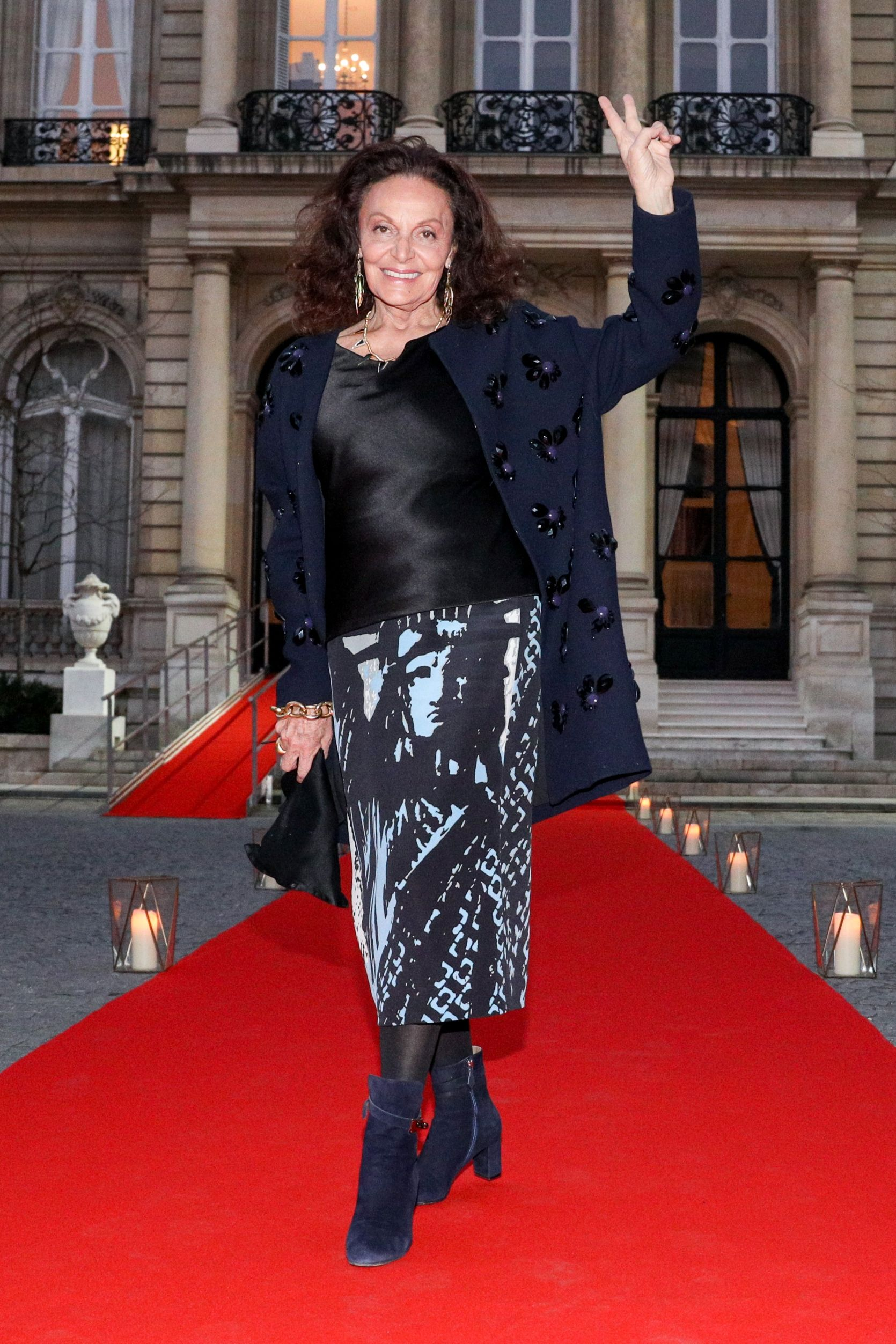 Diane von Furstenberg Diane von Furstenberg at the cocktail reception in celebration of her forthcoming opening of the Statue of Liberty Museum on February 26 in Paris.