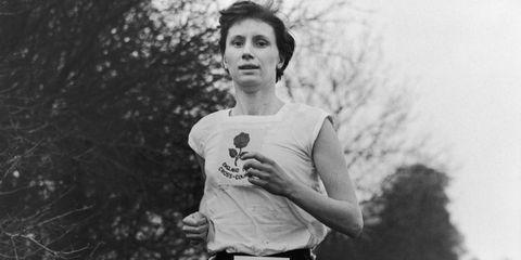 Former mile world record holder Diane Leather