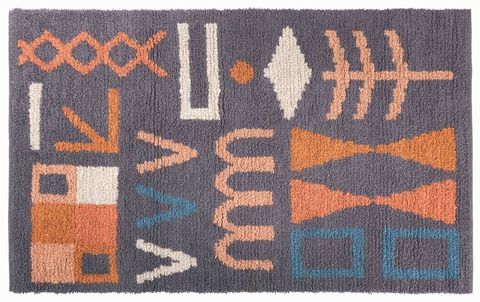 rectangular tufted rug with abstract pattern diaz rug, habitat