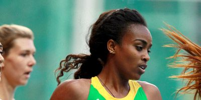 Genzebe Dibaba at the 2013 world championships