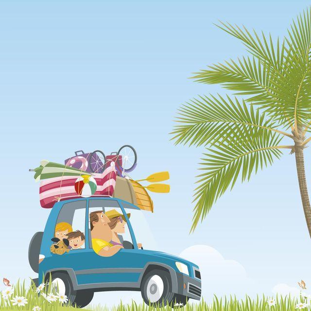viaje familiar en coche