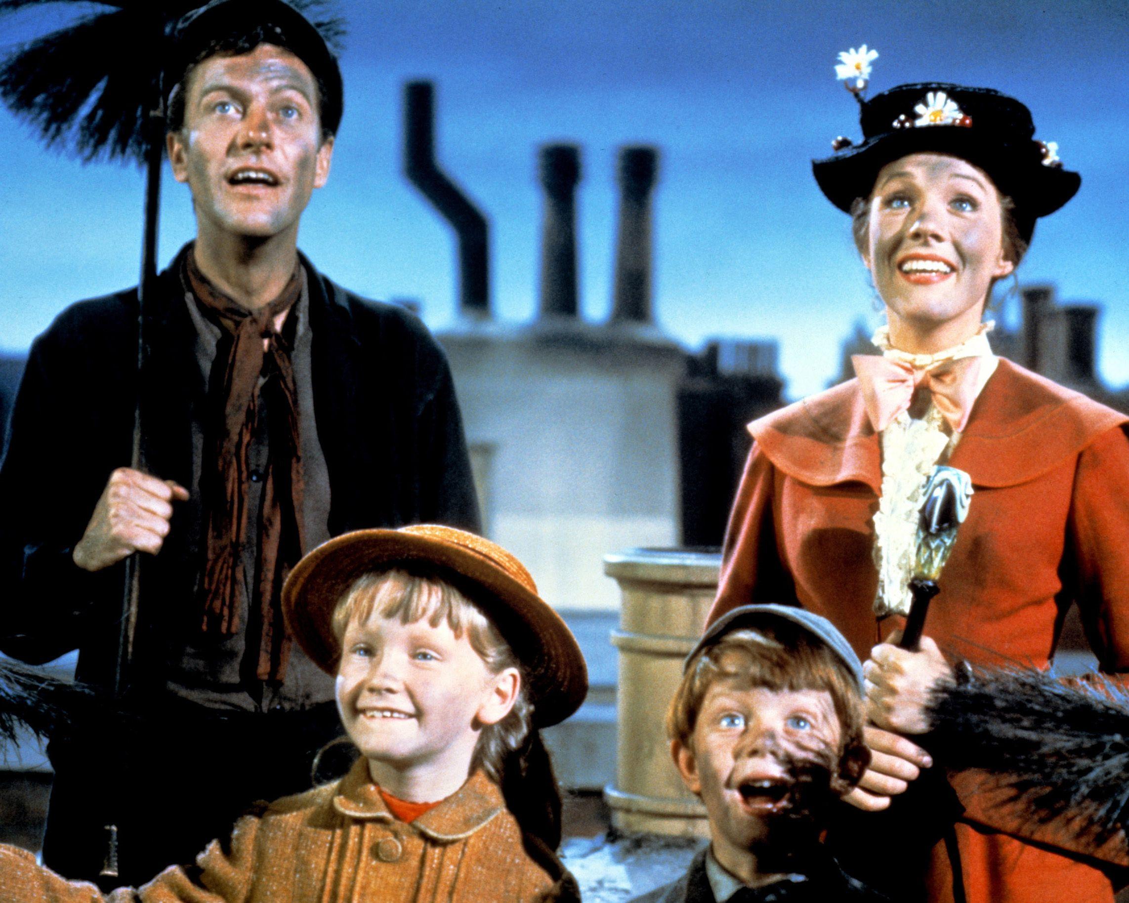 Julie Andrews yDick Van Dycke en 'Mary Poppins'