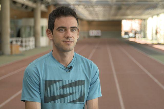 el marchador madrileño diego garcía, campeón de españa de 20 km marcha