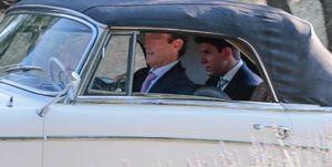 El hijo de Kiko Matamoros a su llegada a su boda con Estela Grande.
