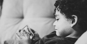 boek, ouders, digital