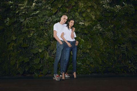 Green, Photograph, Tree, Standing, Fun, Photography, Grass, Footwear, Photo shoot, Plant,