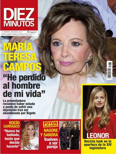Portada Diez Minutos 3573 María Teresa Campos