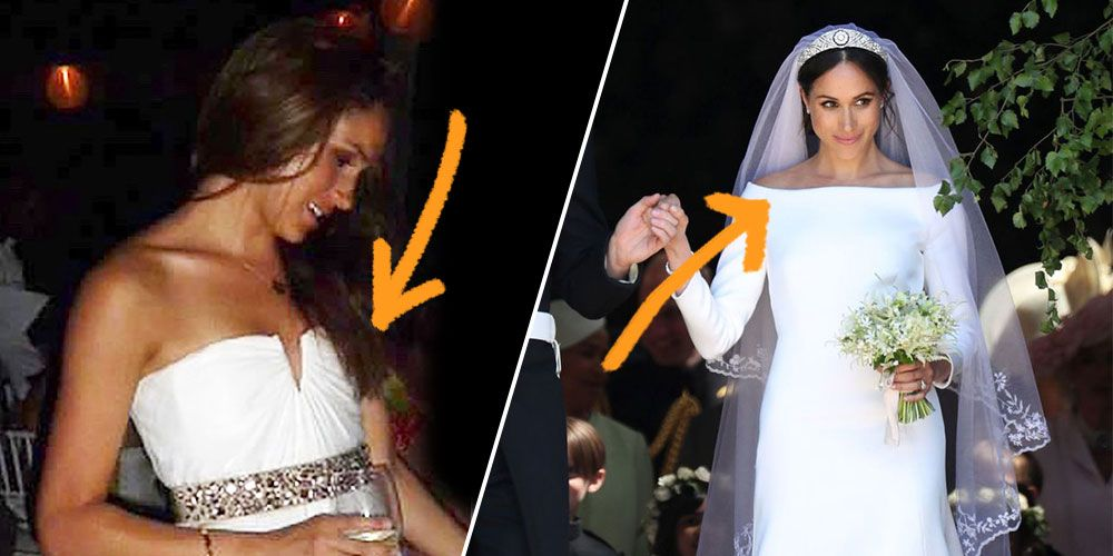 all the ways meghan markle s wedding dress is different from her first one ways meghan markle s wedding dress