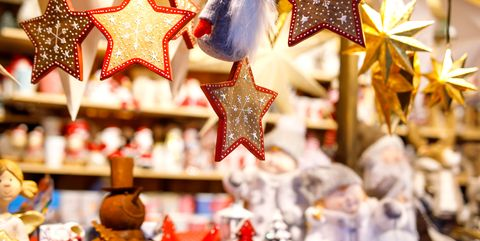 different decoration toy for xmas tree on christmas market close up of cozy handmade - Best Store For Christmas Decorations
