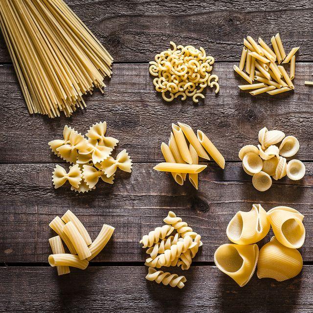 tipos diferentes de pasta italiana