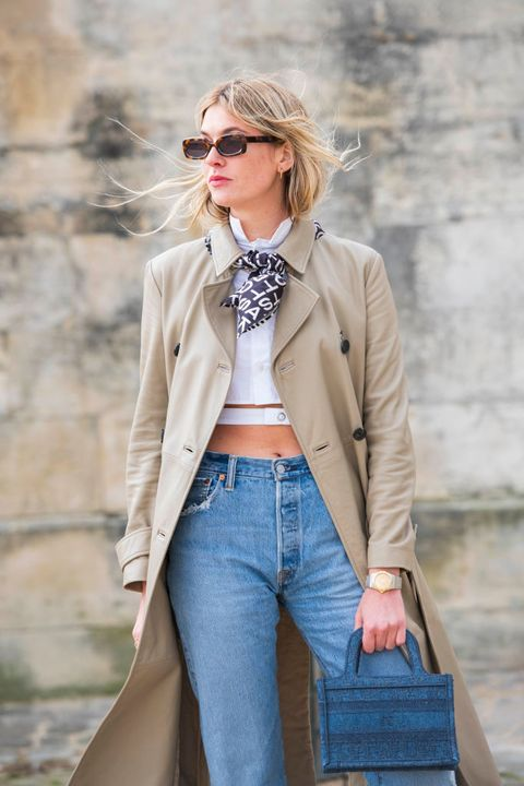 絲巾 street style    paris fashion week   womenswear fallwinter 20202021  day two