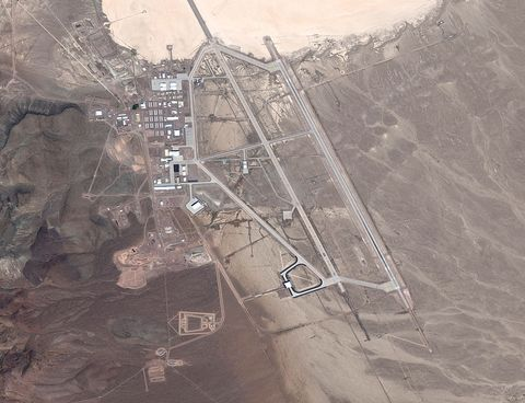 JULY 20, 2016: DigitalGlobe satellite image Area 51.  The United States Air Force facility commonly known as Area 51 is a remote detachment of Edwards Air Force Base, within the Nevada Test and Training Range.