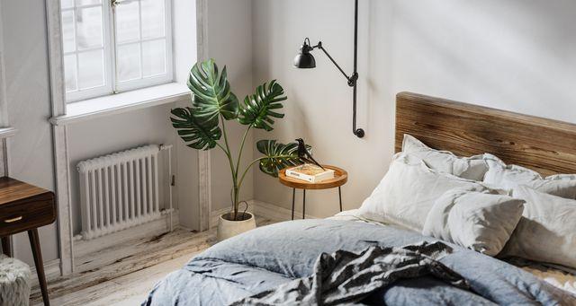digitally generated domestic bedroom interior