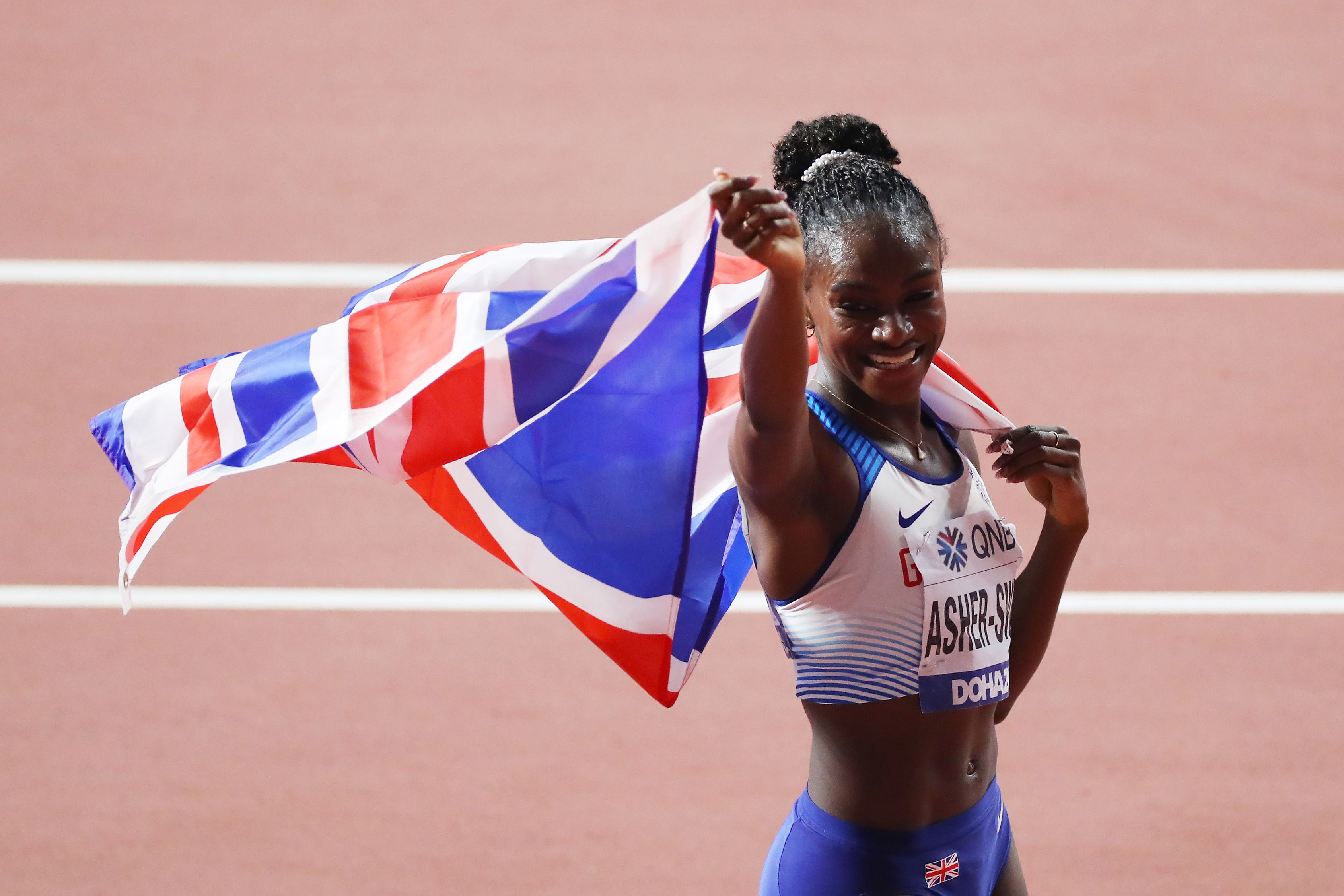 Dina Asher-Smith wins 200m gold at World Athletics Championships