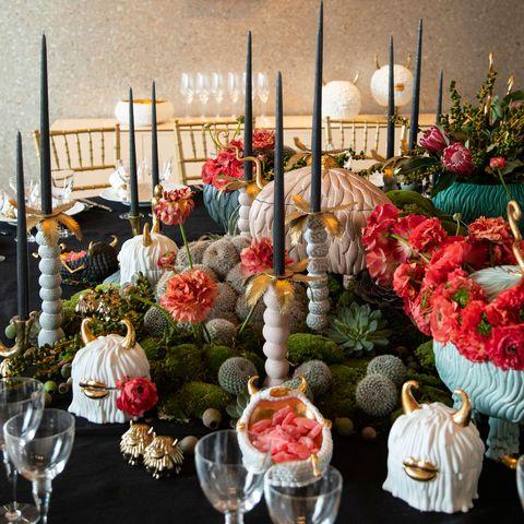Candle, Meal, Floristry, Flower, Centrepiece, Flower Arranging, Plant, Floral design, Buffet, Interior design,