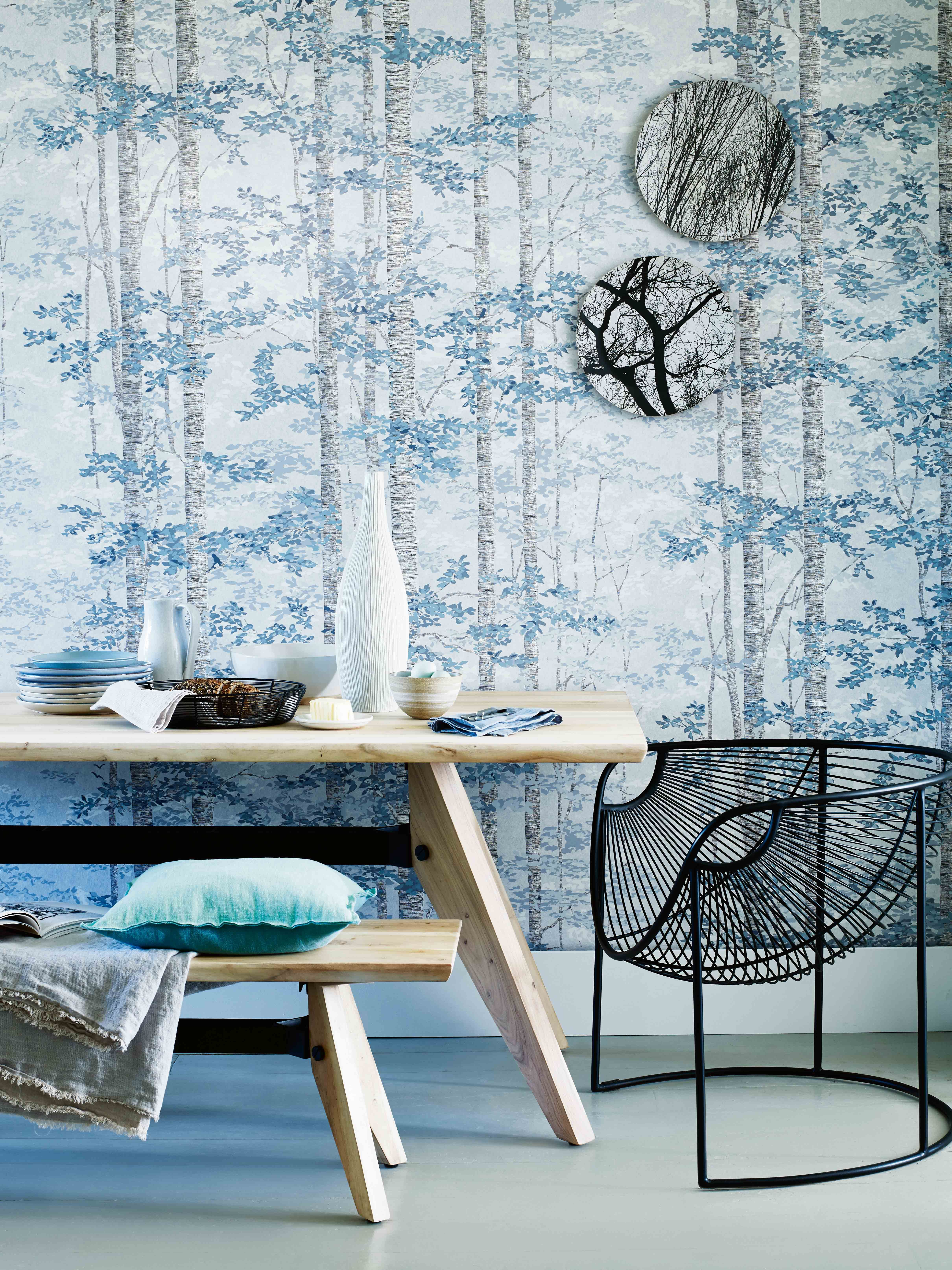 Nature-inspired wallpaper murals